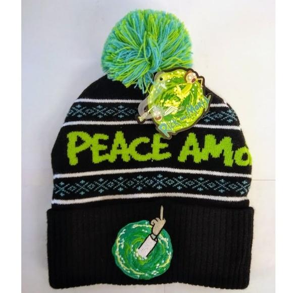 Pom Rick And Morty Beanie Hat. M 5b96d251c6177709f493fbfb 48c822373df